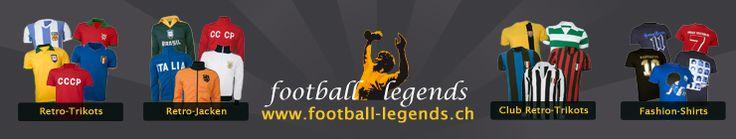 Fusball Retro Trikots und Retro Jacken aus guten alten Fussballtagen für alle Oldschool-Fans und Nostalgie-Liebhaber werden bei www.Football-Legends.ch fündig.