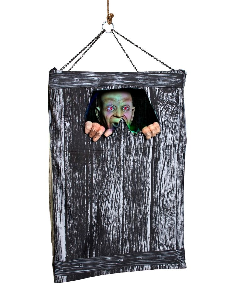 all boxed up animated halloween prop from spirit halloween man speaks 5 phrases and box shakes - Spirit Halloween Props