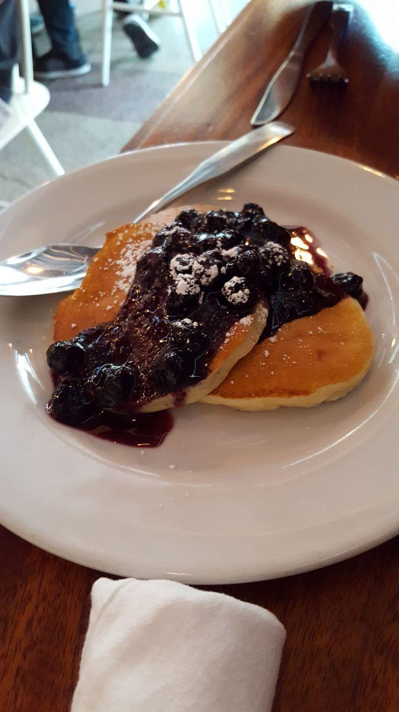 Blueberry Pancakes at Tasty n Alder - Portland, Oregon