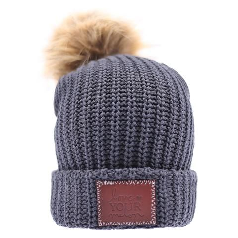 Dark Charcoal Pom Beanie | Love Your Melon (a really amazing cause!!!)