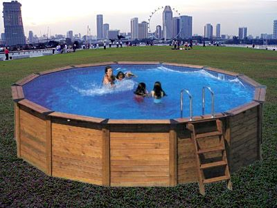 Hard sided above ground swimming pool diy projects for for Above ground pool siding ideas
