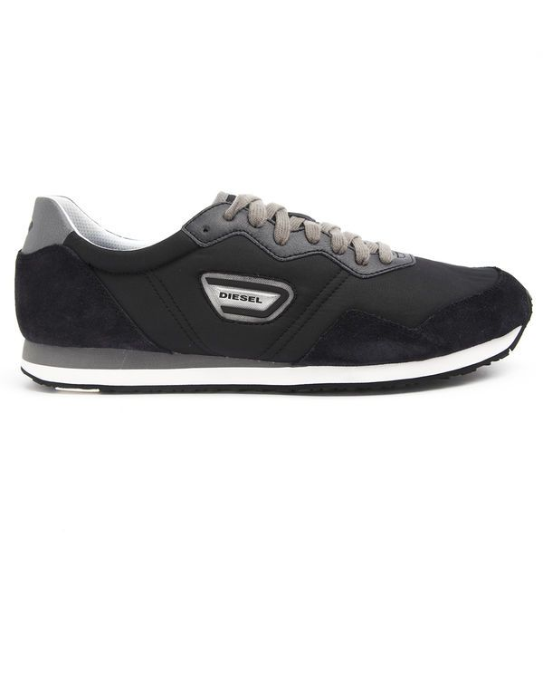 DIESEL, Kursal Black Nylon Sneakers