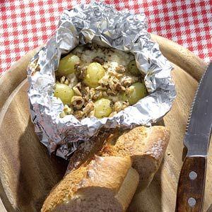 Recept - Geitenkaas met druiven en walnoten - Allerhande