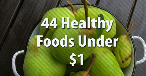 Gives a list of healthy foods, and different ways to make them for less!