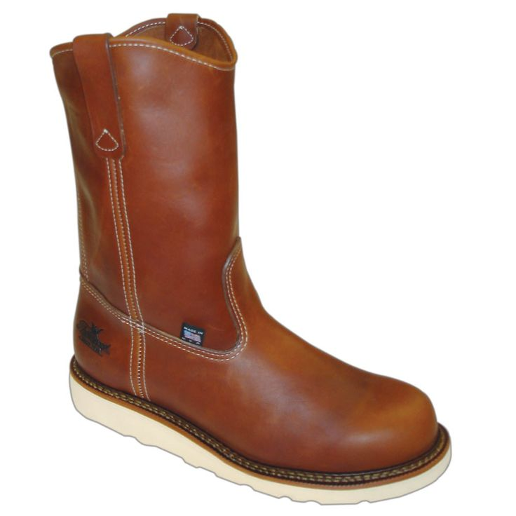 Thorogood Mens Wedges Brown Leather Boots Wellington Safety Toe