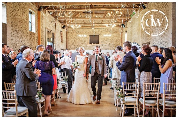 Wedding ceremony at The Granary Barns, Suffolk