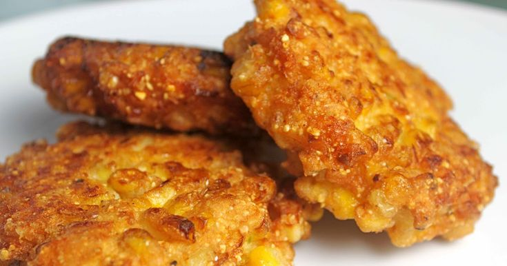 CORN FRITTERS Dick Clark's American Bandstand Grill Recipe 1 (15 oz.) can creamed corn 4 large eggs 1 cup frozen corn, thawed 2 tab...