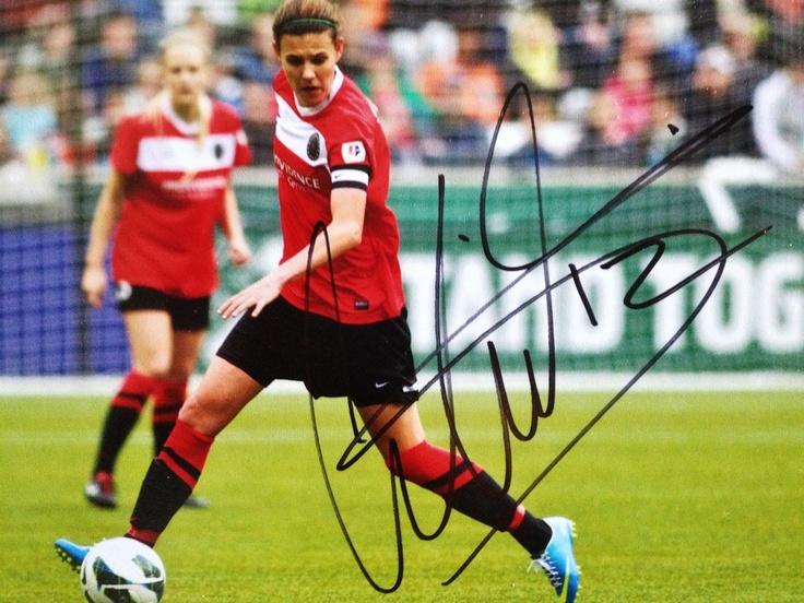 Signed Christine Sinclair Photo