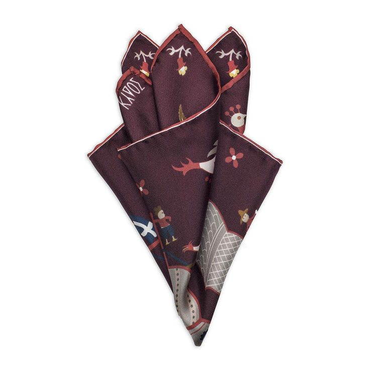 Red Silk Pocketsquare Skyriana