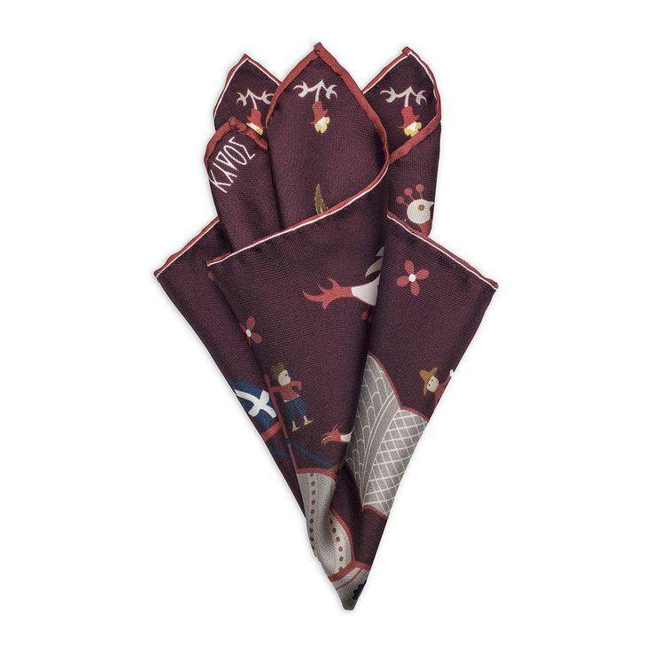 Red Silk Pocketsquare Skyriana