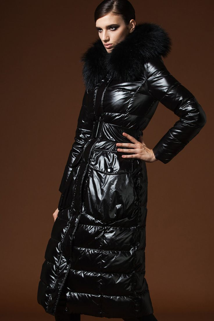 Women's Down Coat large fur collar Duck down-filled slim thicken long – yiclothes.net