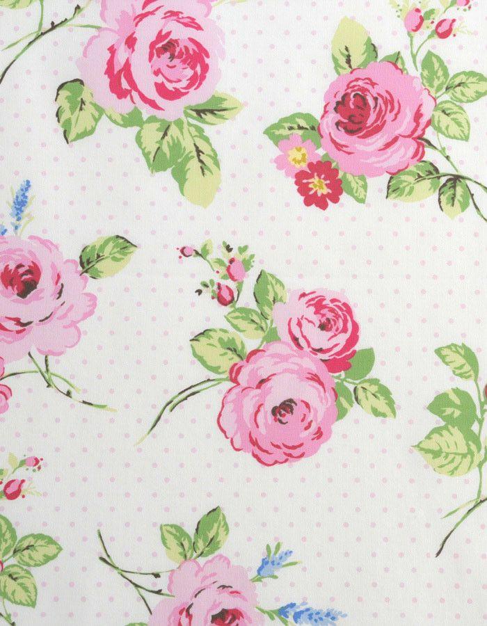 Cotton Fabric English Rose Chintz