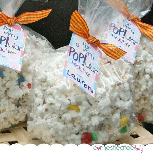 Popcorn bag tag