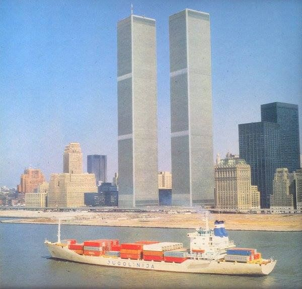 Two things that don't exist any more: The #WTC Twin Towers in #NYC and Jugolinija, #Yugoslavia's shipping line...