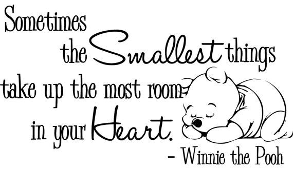 Wall Decal Winnie the Pooh Nursery Baby Smallest by bushcreative, $35.00