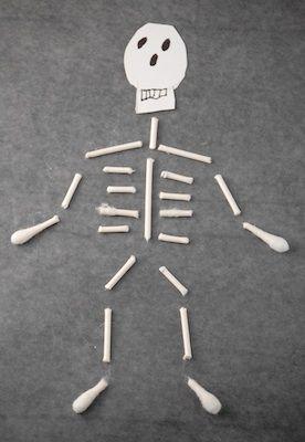 The Crafty Crow q-tip skeleton