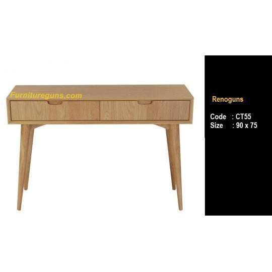 Console table modern retro  Size : 90 x 75   Material  : kayu mahoni. multiflex 18mm finishing : Hpl + cat  Rp 1.700.000,-