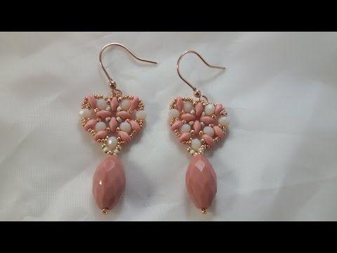 [Beadwork] Tutorial Fan Earrings - DIY - Come fare orecchini con cipollotti e cristalli ovali - YouTube