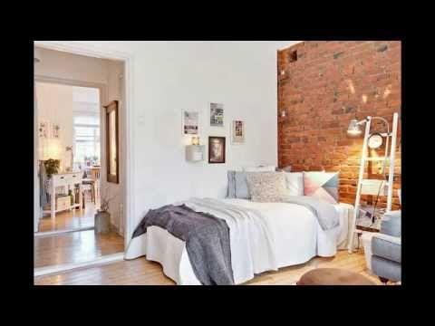Romantic Apartments with Brick Wall, Interior Design - YouTube #interiordesign #homedecor #style #decorating