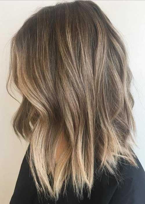 Dark Blonde Ombre Short Hair Balayage Frisur Mittellange Haare Dunkelblonde Frisuren