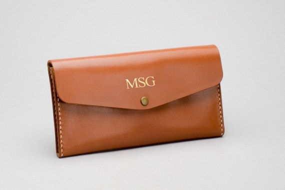 Personalized name Leather Zipper Pouch / Phone Wallet  by HarLex