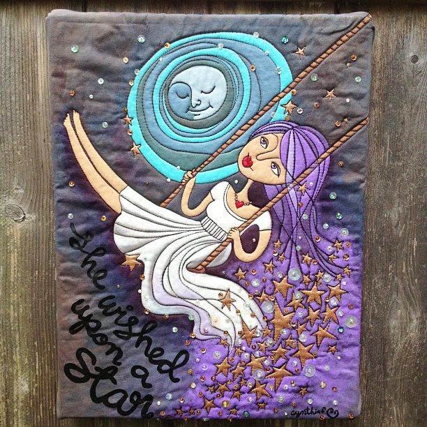 She Wished Upon a Star A whimsical piece inspired by the moon and making  a wish, and a newer illustration style. Completed: 2014