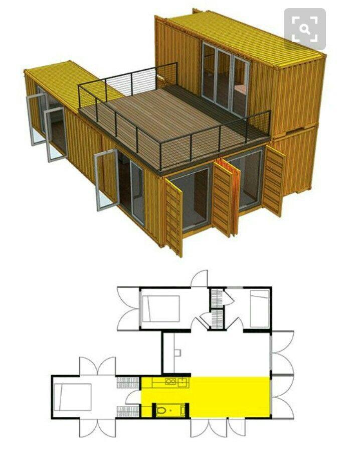 Les 25 meilleures id es de la cat gorie maisons containers sur pinterest de - Maison container interieur ...