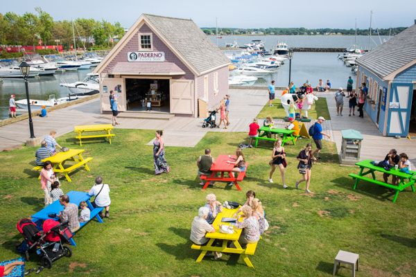 On the waterfront is Peake's Wharf Historic Waterfront Merchants for souvenir shopping, homemade ice cream and fresh seafood. You'll also find live music there in the summer.