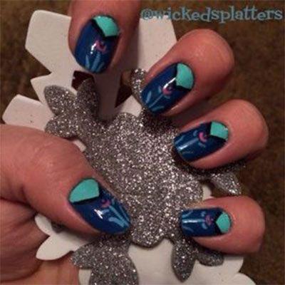 The 25 best disney frozen nails ideas on pinterest olaf nails disney frozen inspired anna nail art designs ideas prinsesfo Images