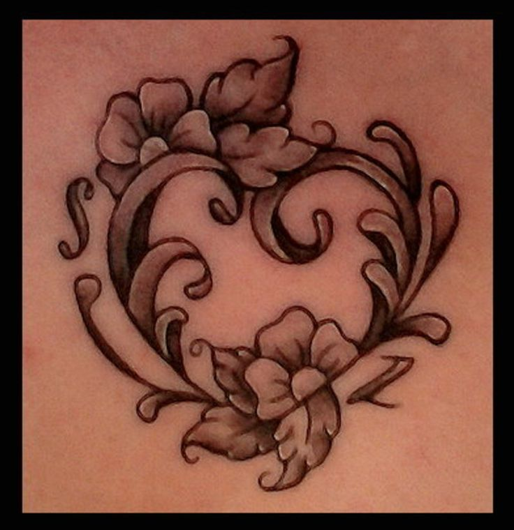 32 Best Heart Tattoos Images On Pinterest: Filigree Tattoo, Baroque And Tattoos And Body Art On Pinterest
