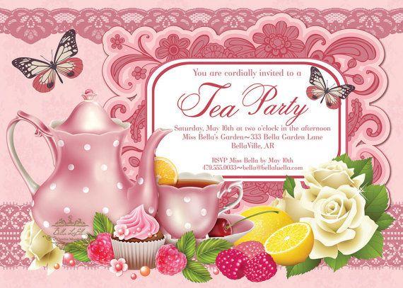 Tea Party Invitation Bridal Tea Party Garden Tea by BellaLuElla, $12.00