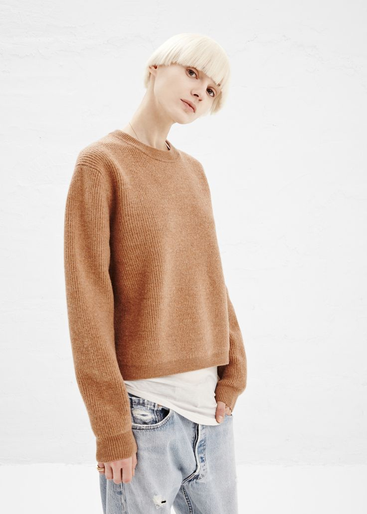 Acne Studios Misty Sweater in Camel — http://totokaelo.com/acne/misty-sweater/camel/J12C35 #totokaelo #acnestudios #sweater