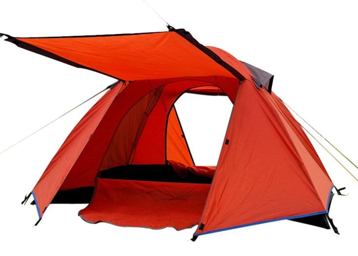 Generic Family Spacious 4 Person Tent Orange * For more information, visit now : Hiking tents