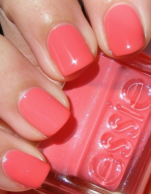 Coral  Coral     Check out http://www.nailsinspiration.com for more inspiration!