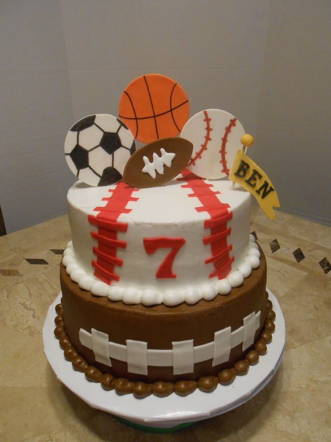 Ben's Sport's Birthday Cake — Children's Birthday Cakes