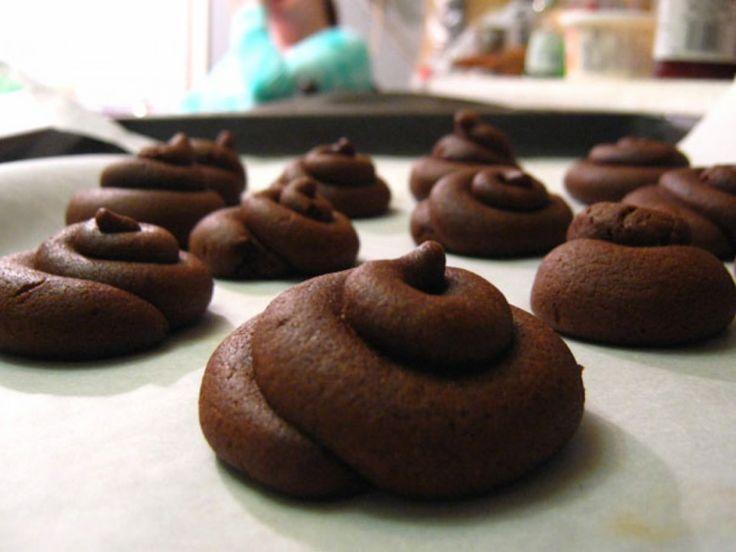 Des biscuits excréments