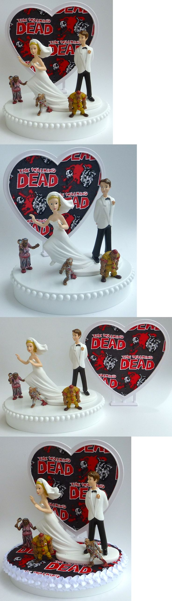 Wedding Cakes Toppers: Wedding Cake Topper Zombies The Walking Dead Runaway Bride Themed Groom W Garter -> BUY IT NOW ONLY: $59.99 on eBay!