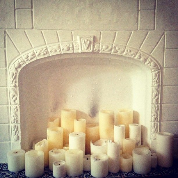 candle fireplace; via The Coveteur instagram