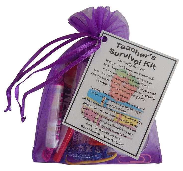 Teacher Survival Kit Teacher Gift (Great present for Christmas, end of year or just because...) - teacher gifts, gift for teacher, end of term gifts for teachers, teacher present, present for teacher, thank you gift for teacher: Amazon.co.uk: Kitchen & Home