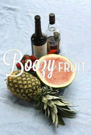 alcohol infused fruit