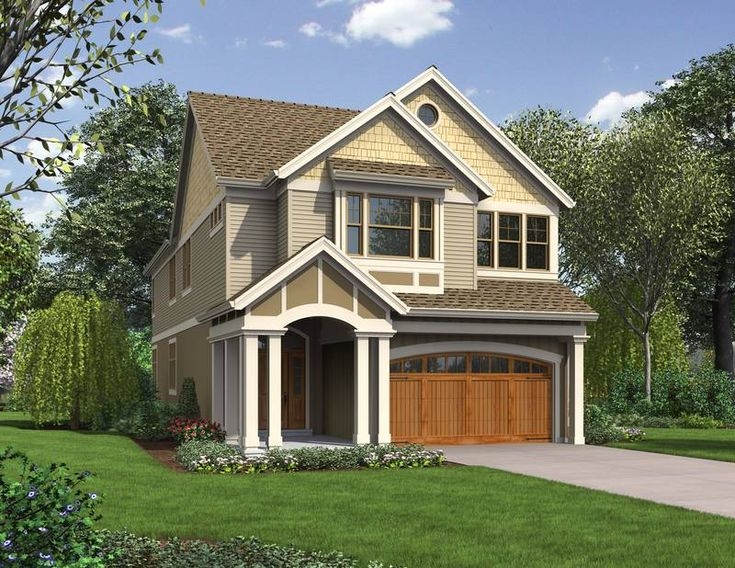 31 best house plans narrow lot with view images on for House plans for view lots