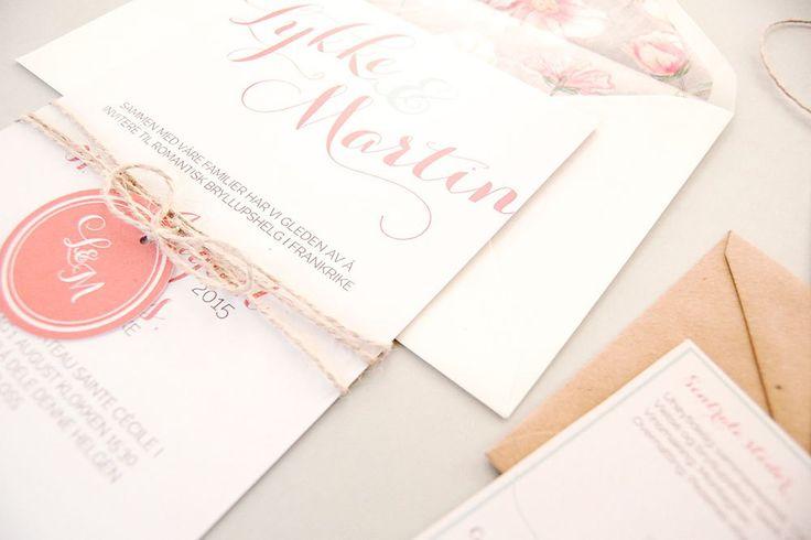 Vintage i Frankrike | Bryllupsinvitasjoner i personlig design