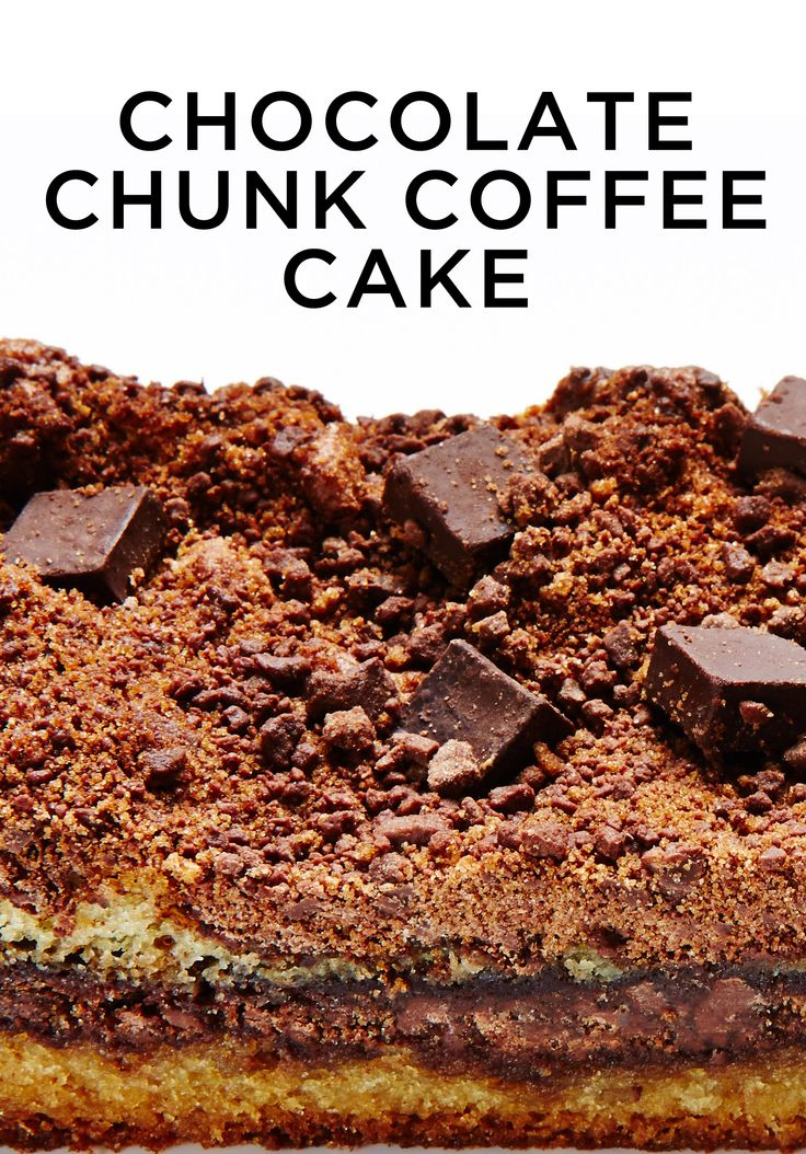 A perfectly luscious cake that's overrun with creamy chunks of chocolate. #BiteMeMore #chocolate #cake #coffee #recipes