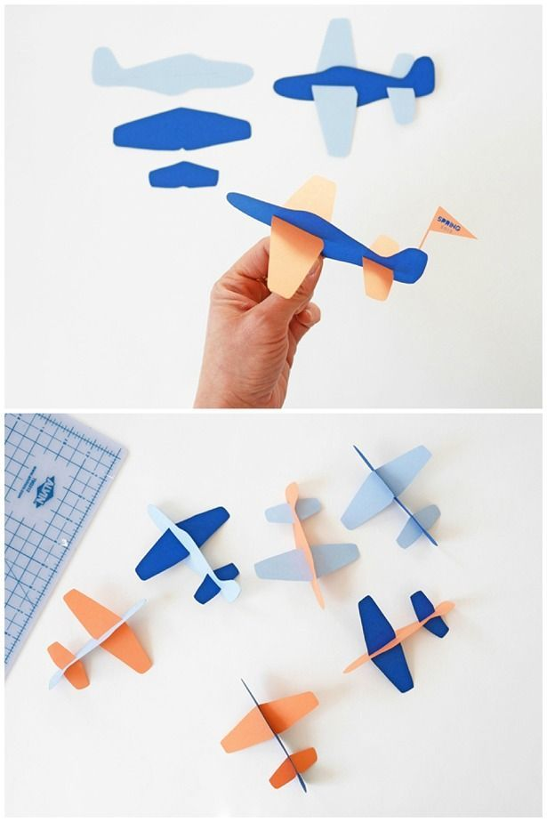 Boy Toys Template : Cute diy paper plane toy with free template