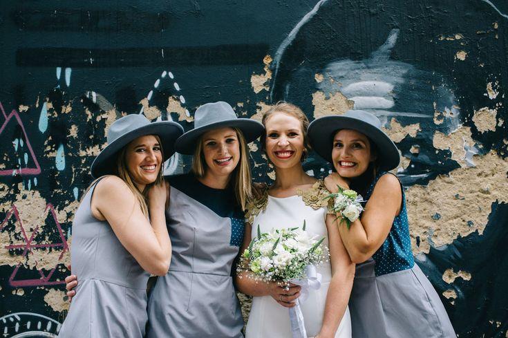 bridesmaids in hats