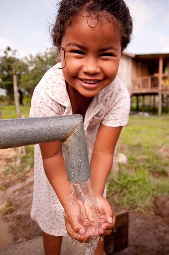 Clean water in Brus Laguna, Honduras, from a charity: water well.