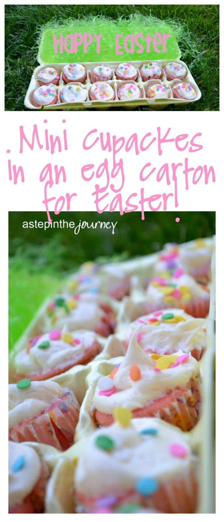 Such a creative way to display cupcakes at Easter! The kids would love this!