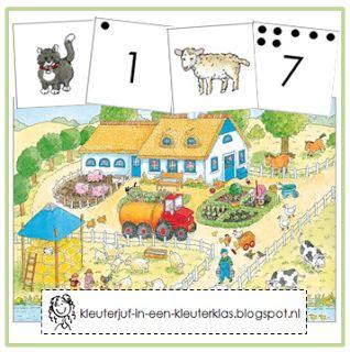 Kleuterklas: Zoek en tel de dieren van de boerderij | Thema BOERDERIJ