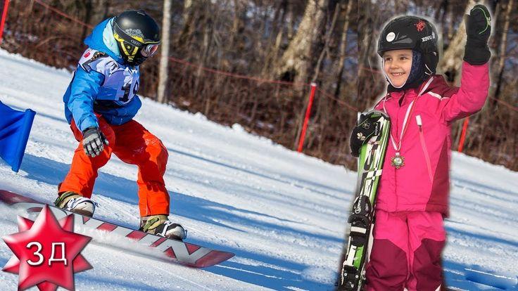 ДОЧЬ КРИСТИНЫ ОРБАКАЙТЕ: 4-х летняя Клавлия Земцова - сноубордистка! Нов...