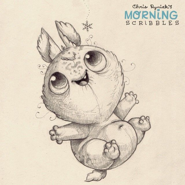 The first snowflake.  #morningscribbles